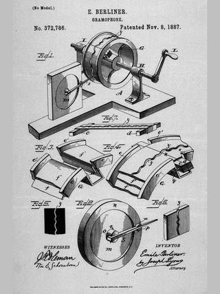 Emile Berliner first gramophone patent